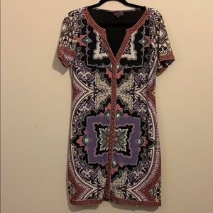 Short sleeve Hale Bob V-Neck dress
